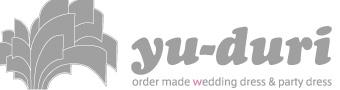 Logo yu-duri 沖縄 オーダーメイド ウェディングドレス
